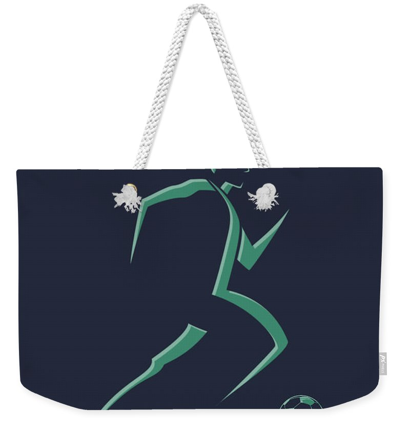 Soccer Weekender Tote Bag featuring the photograph Soccer Player1 by Joe Hamilton