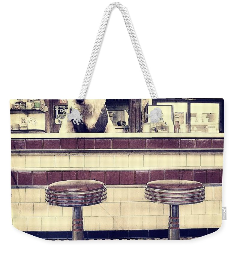 Diner Weekender Tote Bag featuring the photograph Soda Jerk by Edward Fielding