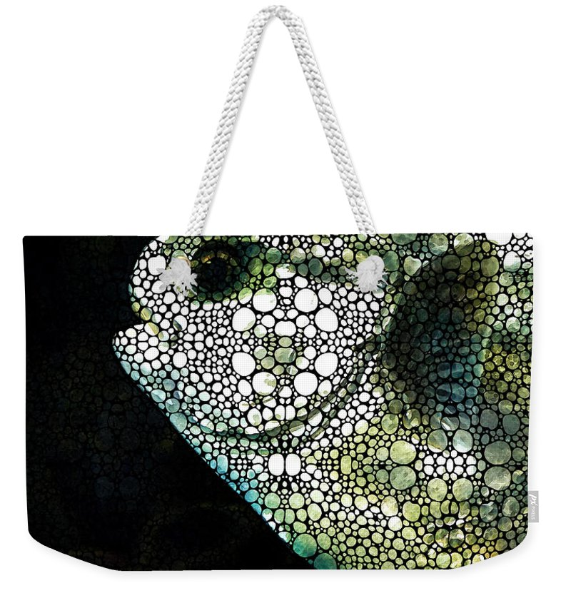 Fish Weekender Tote Bag featuring the painting Sofishticated - Fish Art By Sharon Cummings by Sharon Cummings