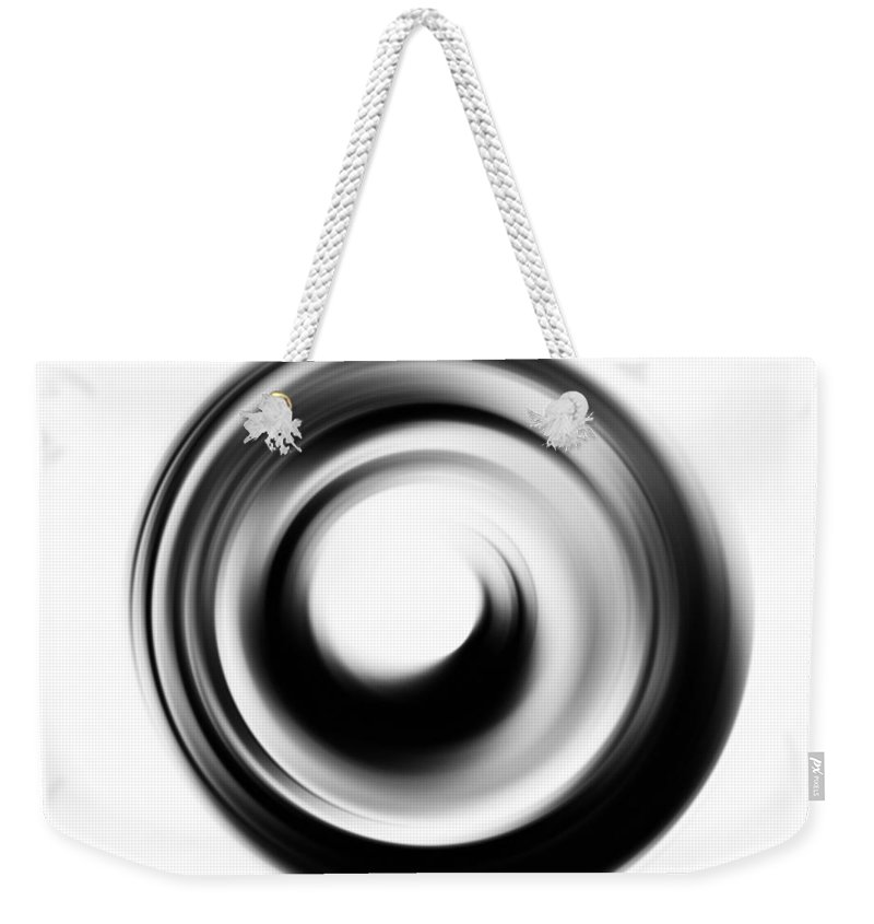 Enso Weekender Tote Bag featuring the painting Soft Black Enso - Art By Sharon Cummings by Sharon Cummings