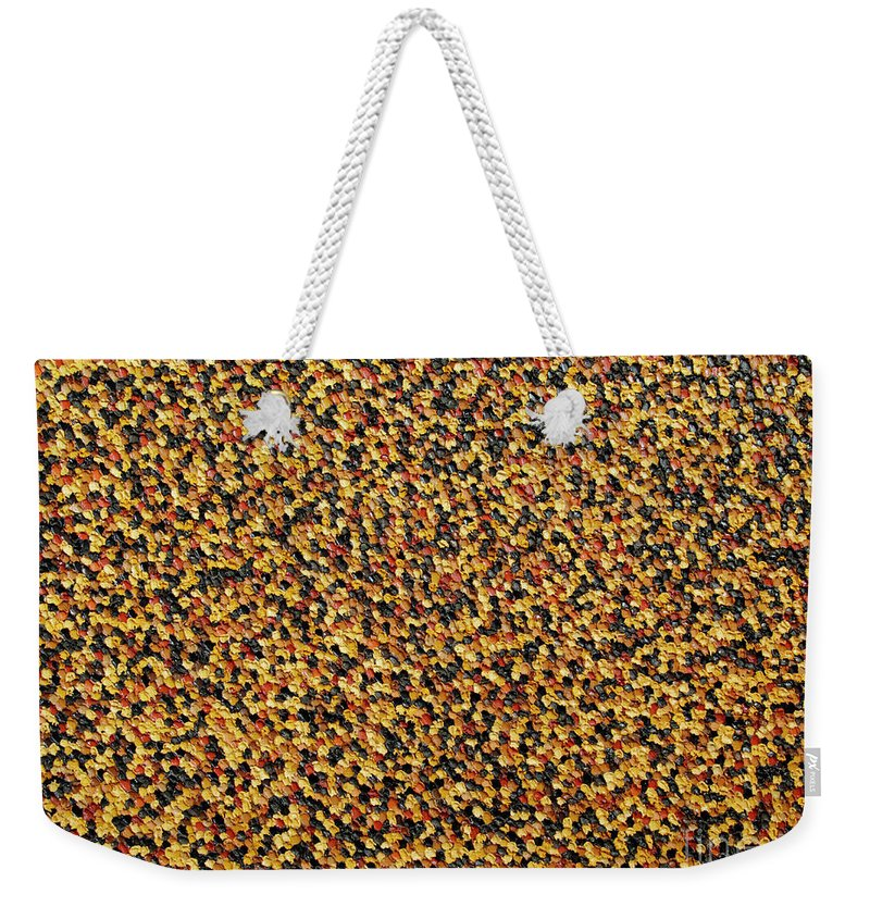 Abstract Weekender Tote Bag featuring the painting Soft Black with Brown by Dean Triolo