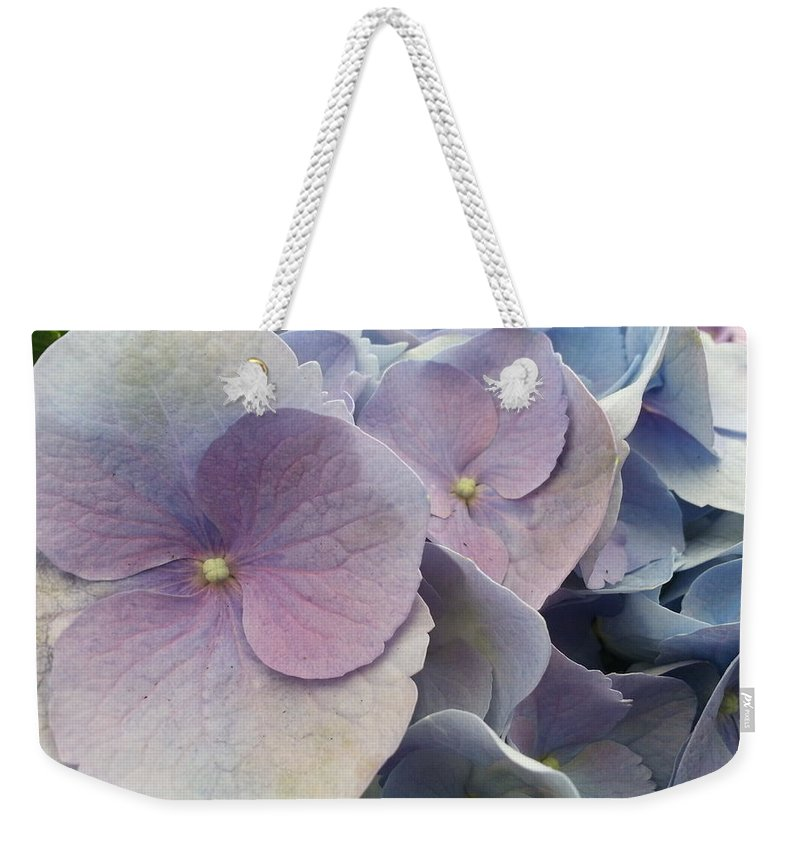Hydrangea Weekender Tote Bag featuring the photograph Soft Hydrangea by Caryl J Bohn