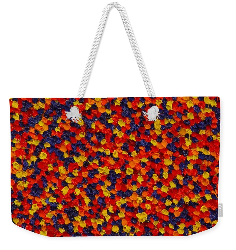 Abstract Weekender Tote Bag featuring the painting Soft Primary by Dean Triolo