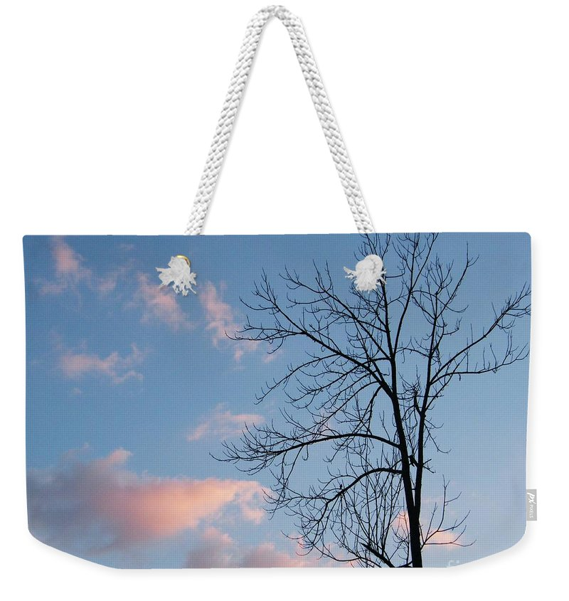 Sky Weekender Tote Bag featuring the photograph Soft Touch by Lizi Beard-Ward