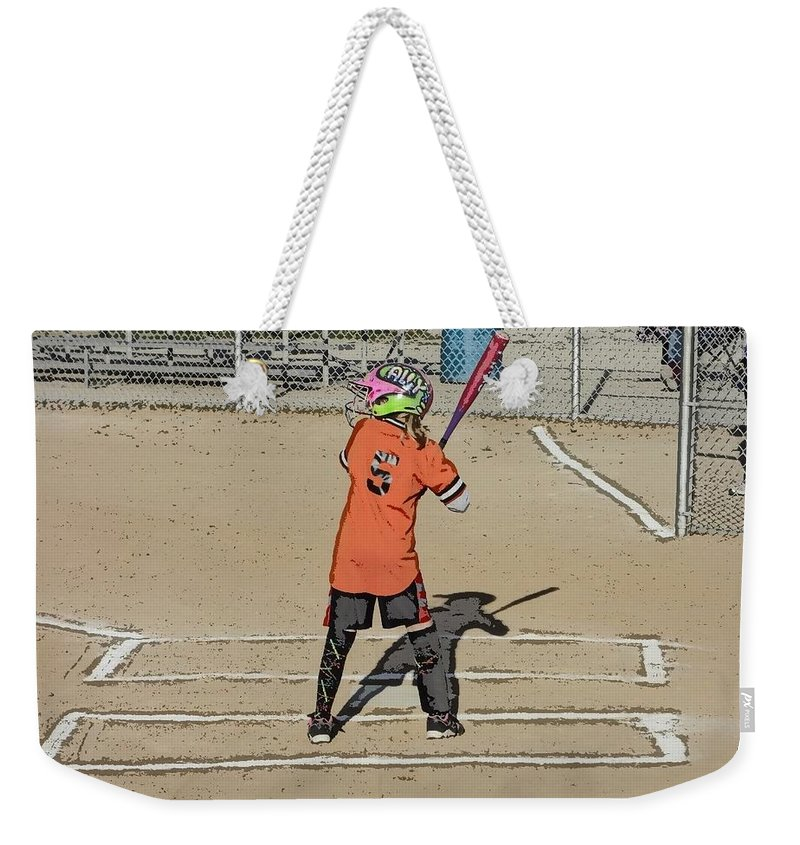 Softball Weekender Tote Bag featuring the photograph Softball Star by Michael Porchik