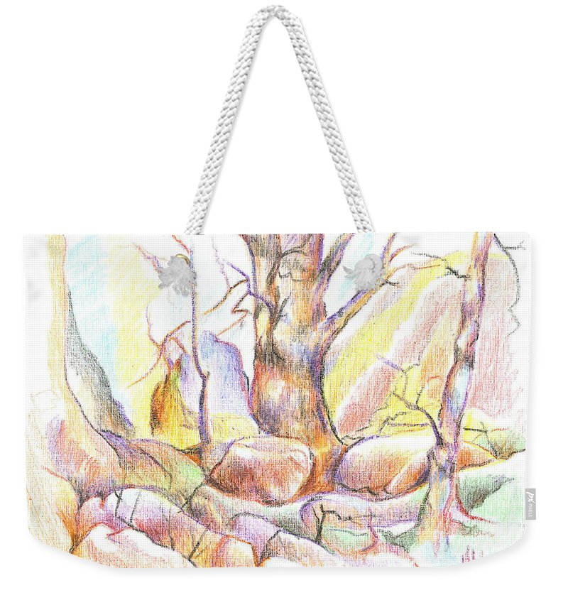 Softly Speaking Weekender Tote Bag featuring the painting Softly Speaking by Kip DeVore