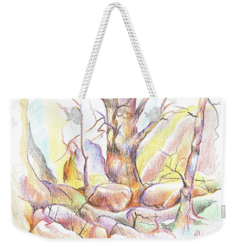 Softly Speaking Weekender Tote Bag featuring the painting Softly Speaking by Kip DeVore