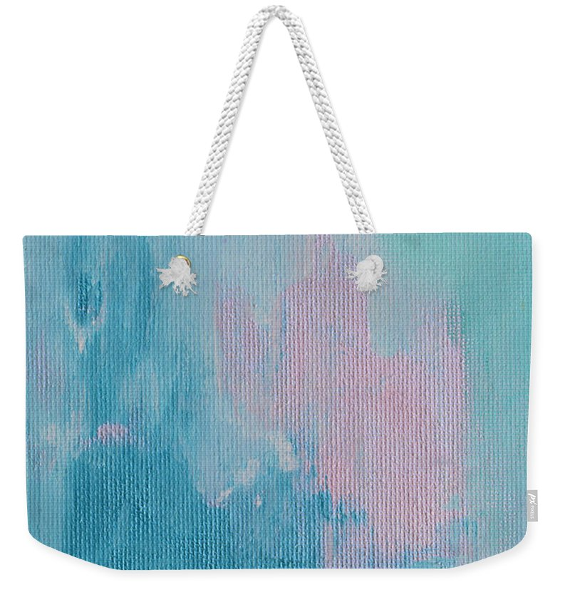 Soft Weekender Tote Bag featuring the painting Softness Falls by Donna Blackhall