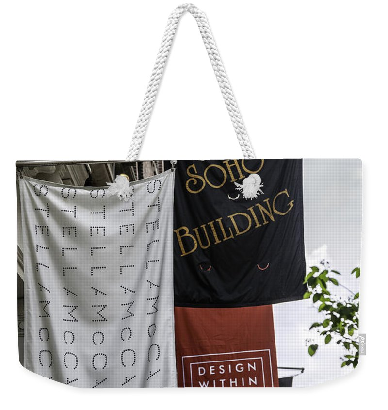 Soho Weekender Tote Bag featuring the photograph Soho - Nyc by Madeline Ellis