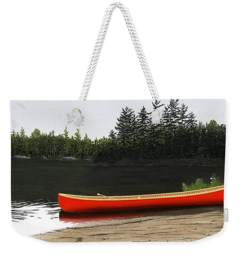 Llandscapes Weekender Tote Bag featuring the painting Solemnly by Kenneth M Kirsch