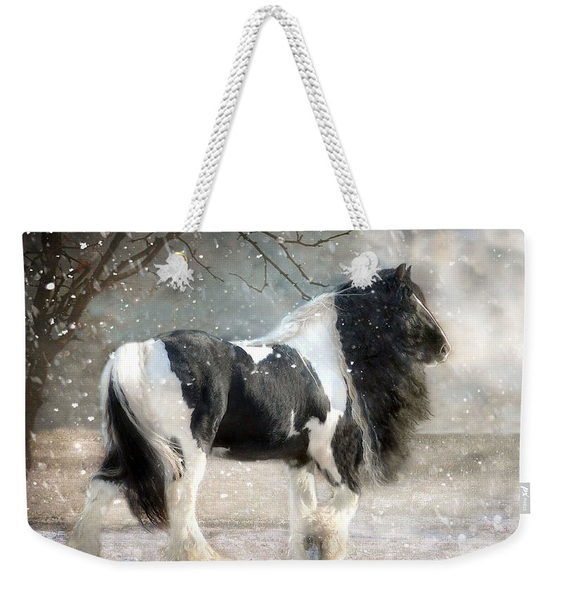 Horse Photographs Weekender Tote Bag featuring the photograph Solitary by Fran J Scott
