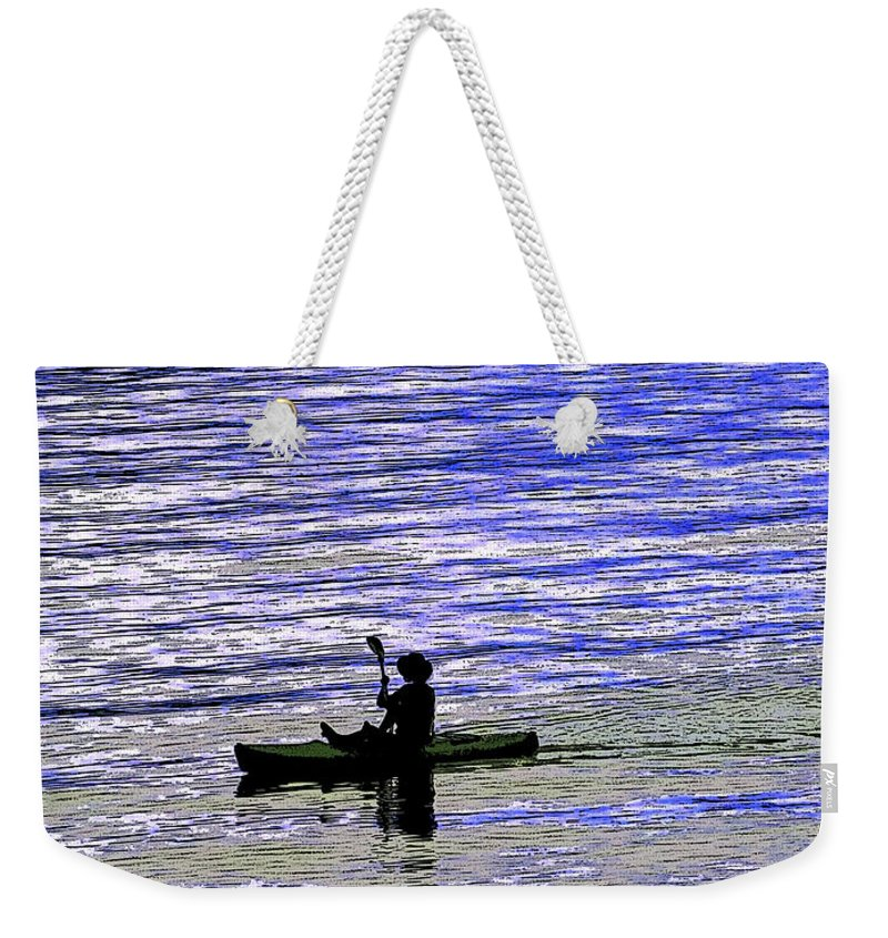 Anne Mott Weekender Tote Bag featuring the photograph Solitude At Sea by Anne Mott
