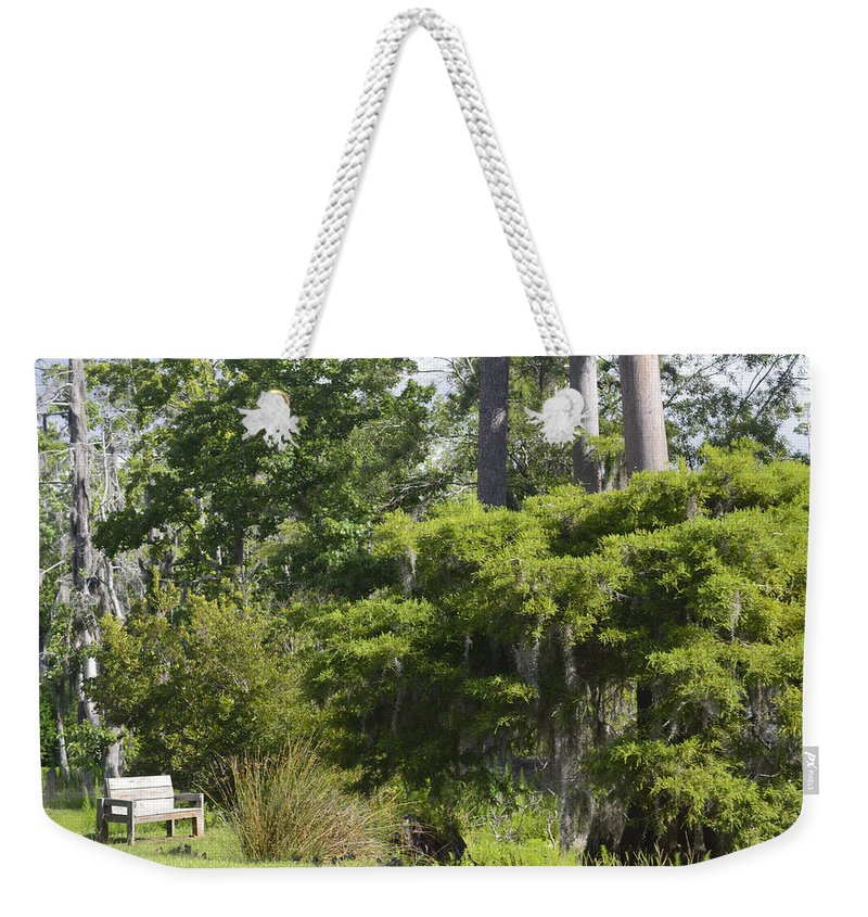 Bench Weekender Tote Bag featuring the photograph Solitude by Leticia Latocki