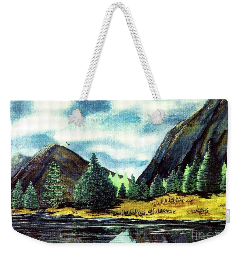 Fine Art Weekender Tote Bag featuring the painting Solitude by Patricia Griffin Brett