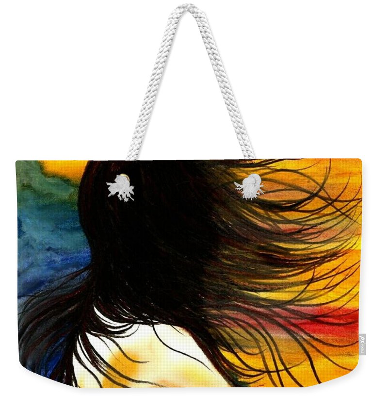 Beautiful Weekender Tote Bag featuring the photograph Solo Mood by Artist RiA