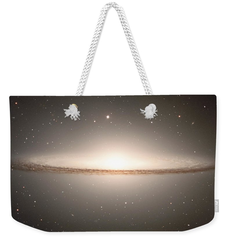 : Image Of The Famous Early-type Spiral Galaxy Messier 104 Weekender Tote Bag featuring the photograph Sombrero by Paul Fearn