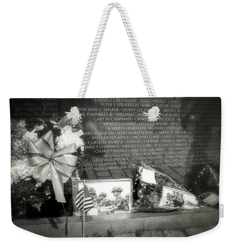 Vietnam Veterans Memorial Weekender Tote Bag featuring the photograph Some Gave All by Sennie Pierson