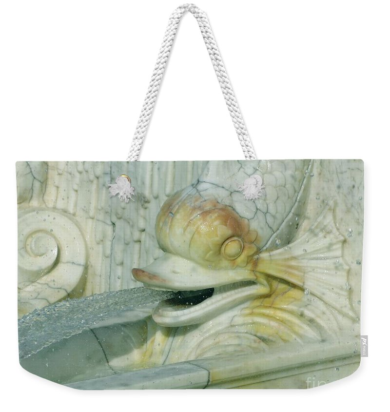 Sculpture Weekender Tote Bag featuring the photograph Somewhat Fishy by Ann Horn