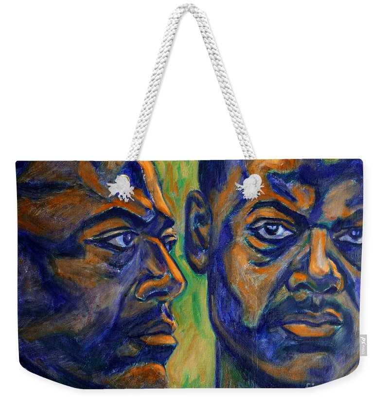 Song Of Freedom Weekender Tote Bag featuring the painting Song Of Freedom by Xueling Zou