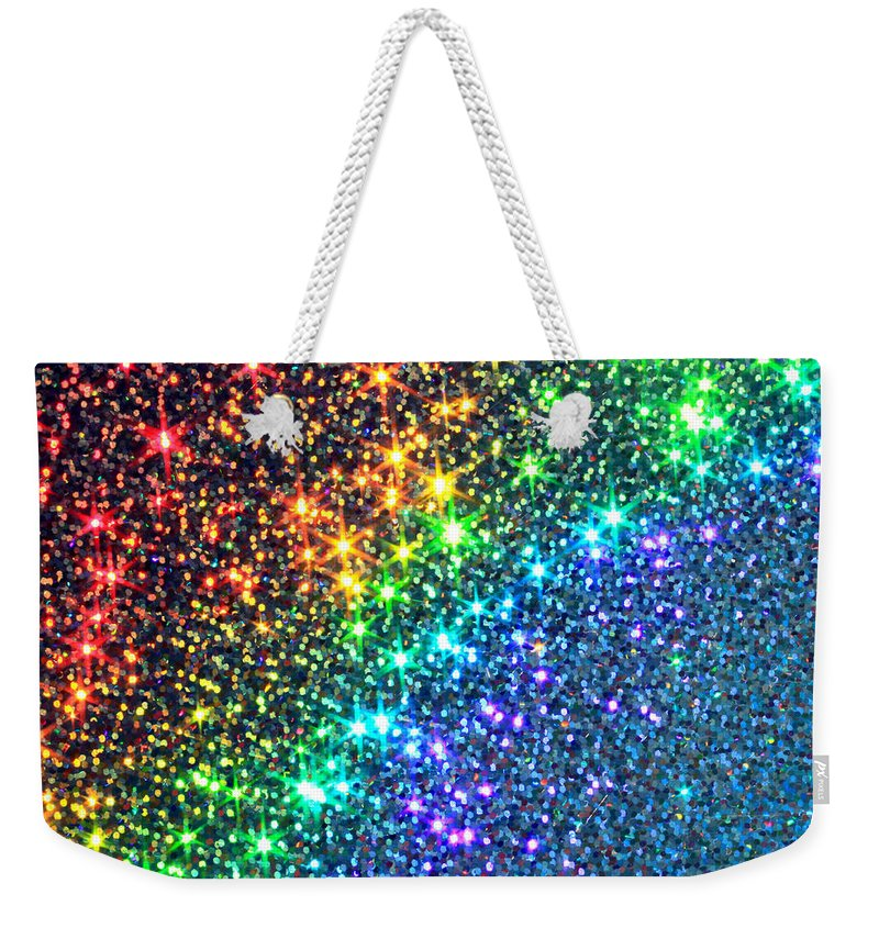 Abstract Weekender Tote Bag featuring the photograph Song Of The Stars by Dazzle Zazz