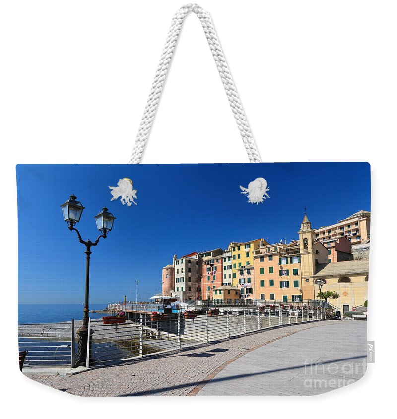 Ancient Weekender Tote Bag featuring the photograph Sori Waterfront - Italy by Antonio Scarpi