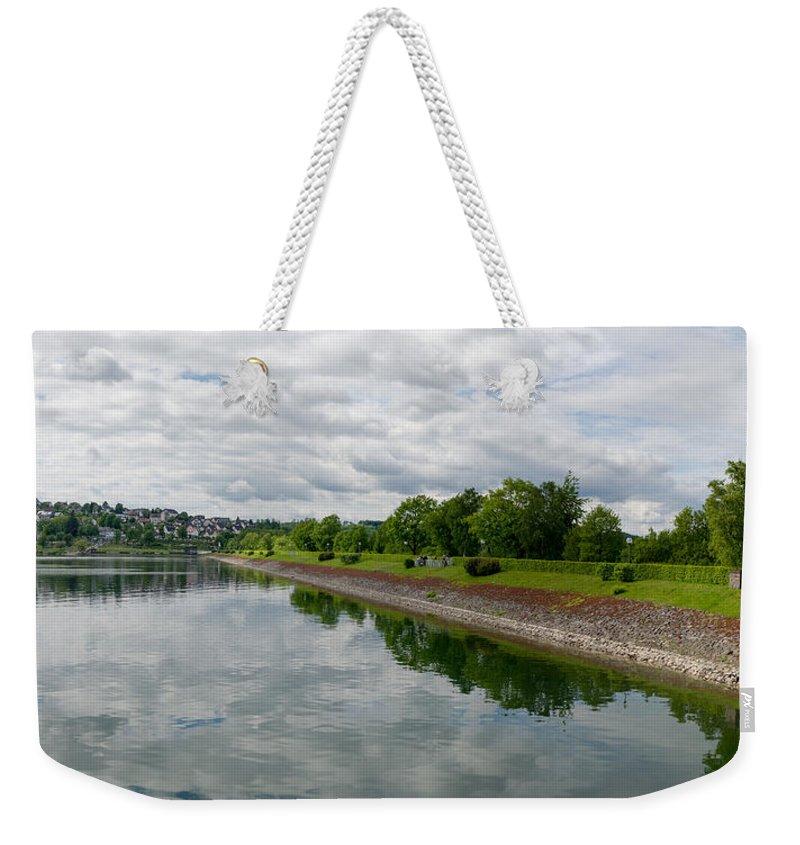 Sorpe Dam Weekender Tote Bag featuring the photograph Sorpe Dam Panorama by Gary Eason