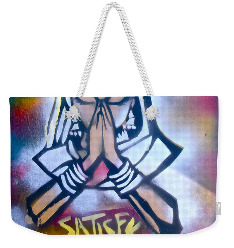 Graffiti Weekender Tote Bag featuring the painting Soul Satisfying 1 by Tony B Conscious
