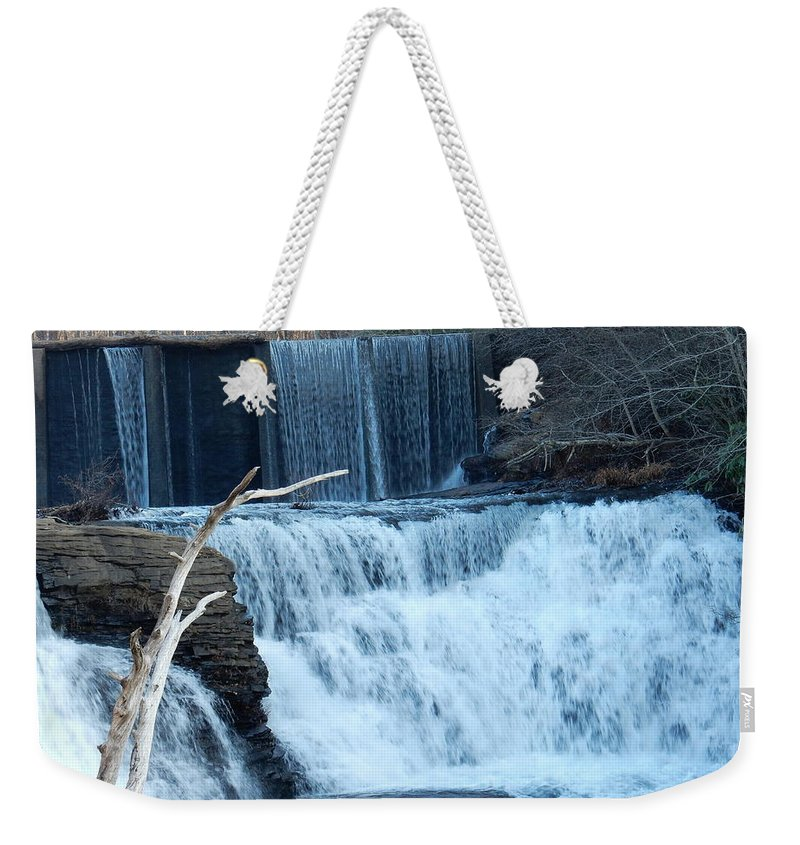 Waterfalls Weekender Tote Bag featuring the photograph Sounds Of Nature by Kathy R Thomas
