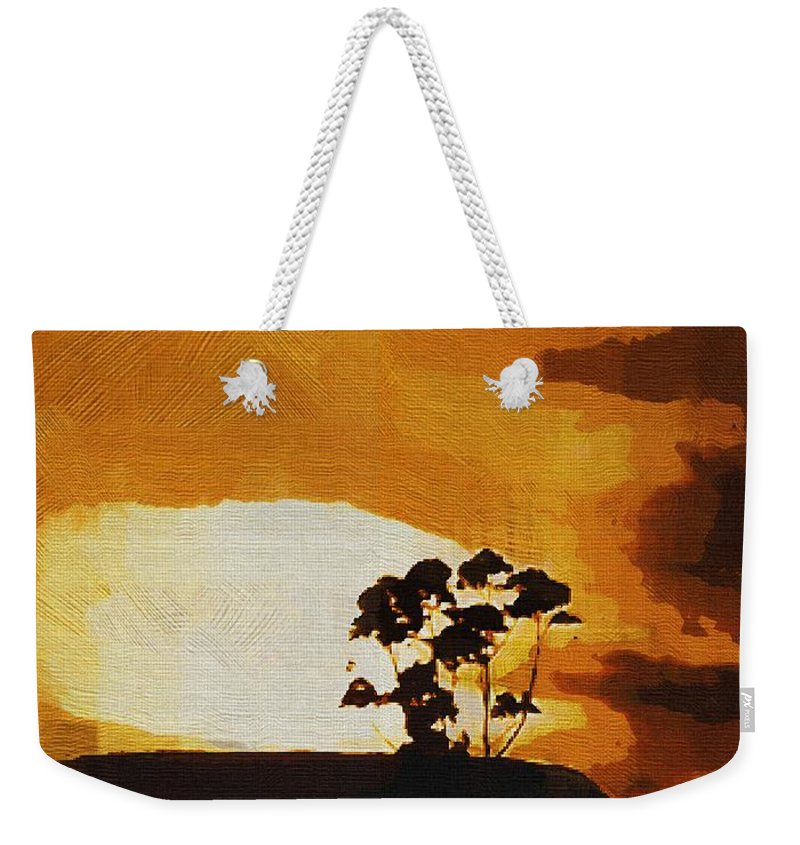 Clouds Weekender Tote Bag featuring the painting South African Sky by RC DeWinter