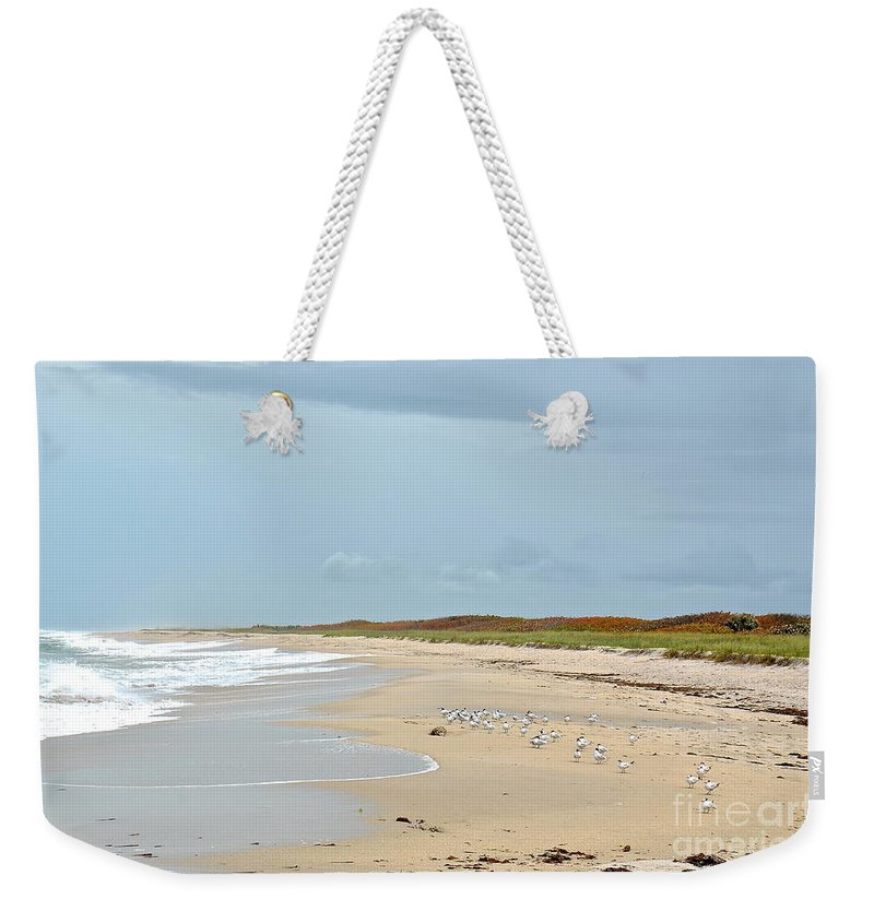 Sea Weekender Tote Bag featuring the photograph South Beach by Carol Bradley