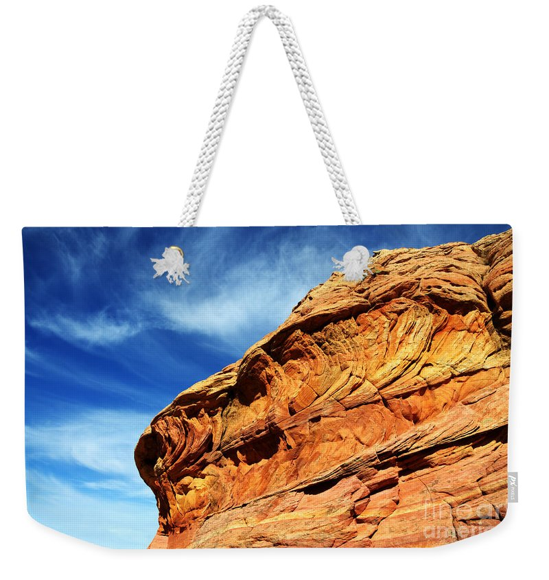 Rock Weekender Tote Bag featuring the photograph South Coyote Buttes 6 by Bob Christopher