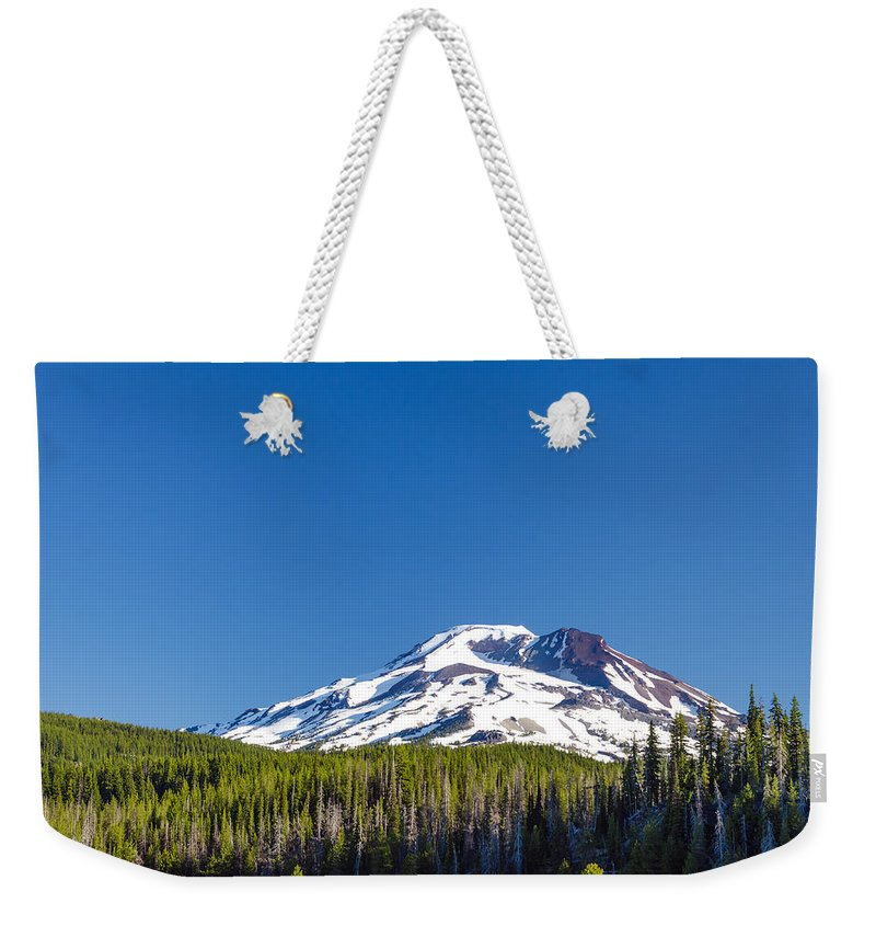 Mountain Weekender Tote Bag featuring the photograph South Sister by Jess Kraft