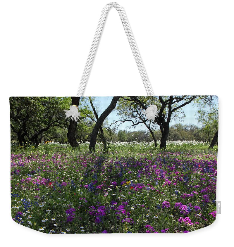 Texas Weekender Tote Bag featuring the photograph South Texas Meadow by Susan Rovira