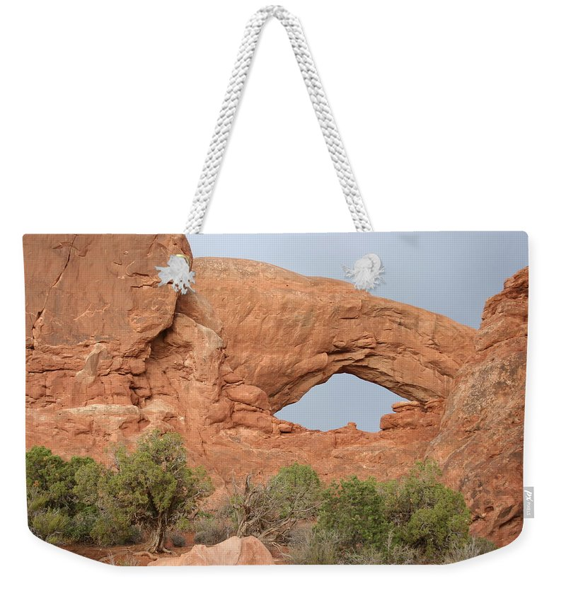 South Window Weekender Tote Bag featuring the photograph South Window Arches National Park by Christiane Schulze Art And Photography