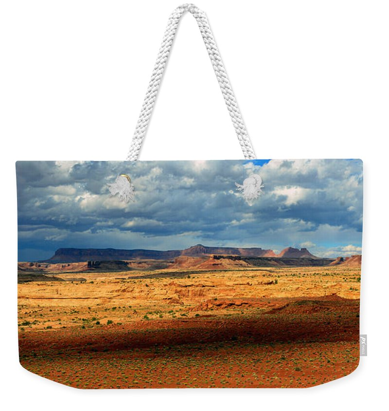 Southeastern Utah Desert Weekender Tote Bag featuring the photograph Southeastern Utah Desert Panoramic by David Lee Thompson