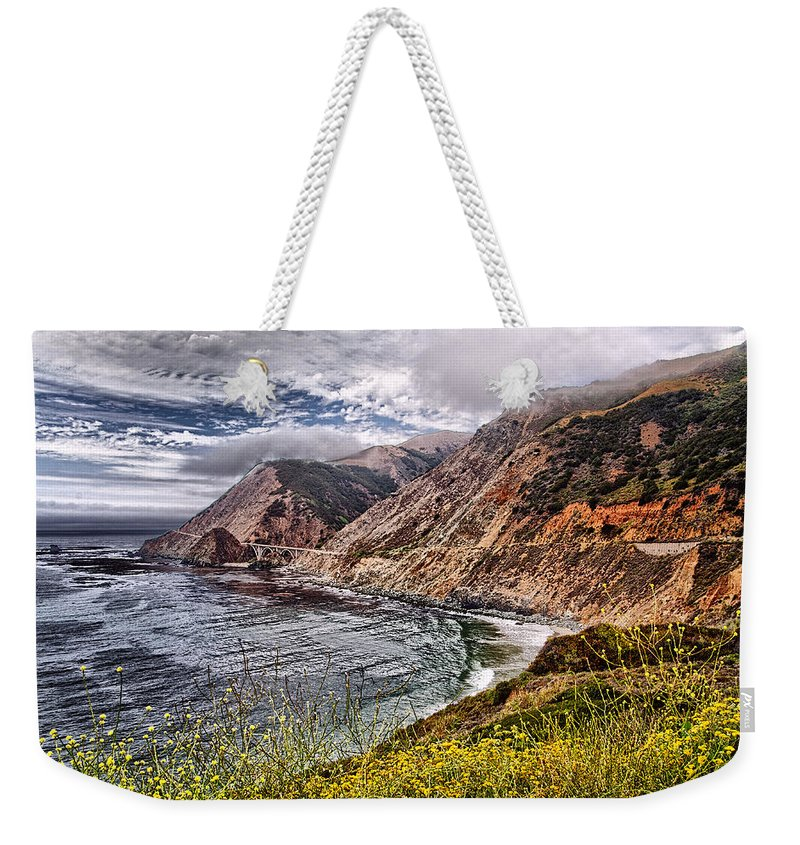California Weekender Tote Bag featuring the photograph Souther California Coast by Jon Berghoff