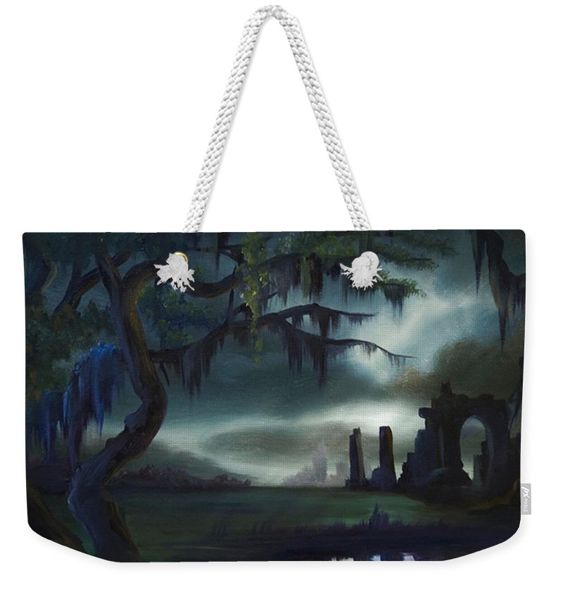 Sunrise Weekender Tote Bag featuring the painting Southern Arch by James Christopher Hill