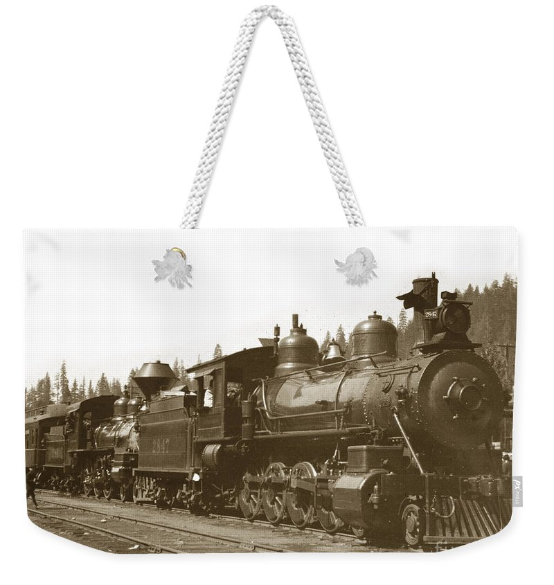 Steam Weekender Tote Bag featuring the photograph Southern Pacific Steam Locomotives No. 2847 2-8-0 1901 by California Views Archives Mr Pat Hathaway Archives