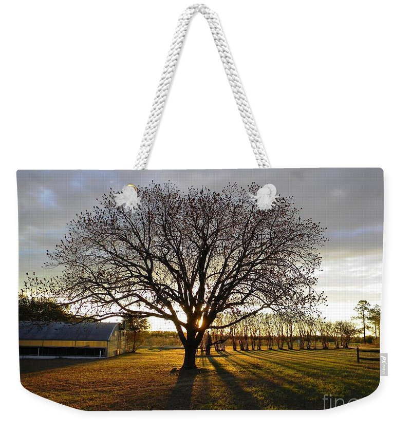 South Weekender Tote Bag featuring the digital art Southern Sunrise by Matthew Seufer
