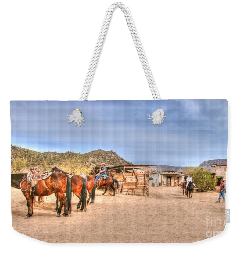 Desert Weekender Tote Bag featuring the photograph Southwest Ride by Tap On Photo