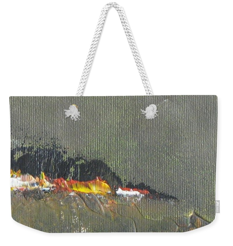 Seascape Weekender Tote Bag featuring the painting Souvenir De Vacances #26 - Memory Of A Vacation #26 by France Gionet