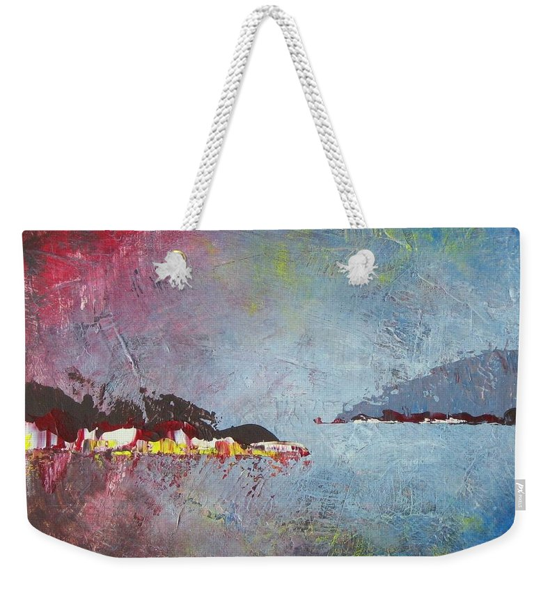 Sea Weekender Tote Bag featuring the painting Souvenir De Vacances #36 - Memory Of A Vacation #36 by France Gionet