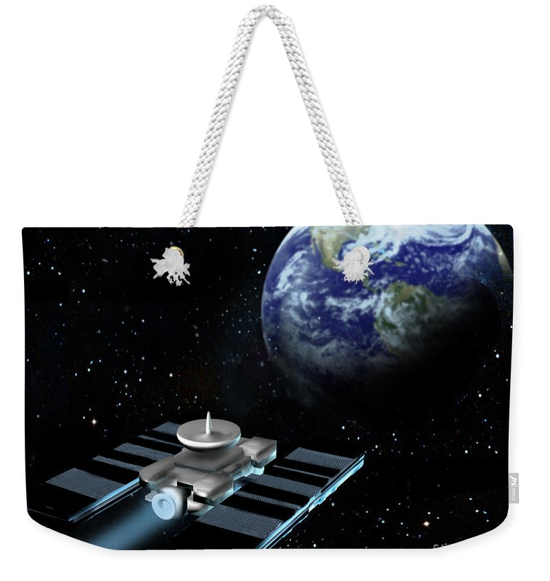 Artwork Weekender Tote Bag featuring the photograph Space Exploration, Earth, Illustration by Spencer Sutton