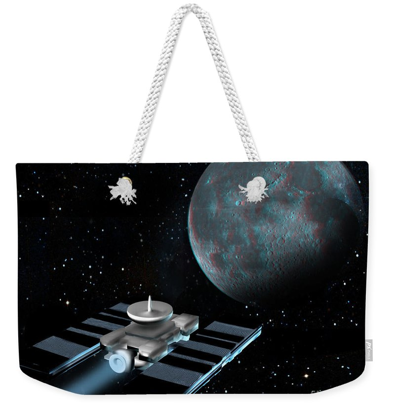 Artwork Weekender Tote Bag featuring the photograph Space Exploration, Moon, Illustration by Spencer Sutton