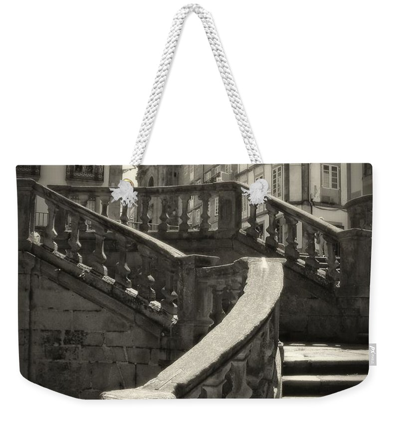 Spain Weekender Tote Bag featuring the photograph Plaza Stairs In Spain Series 24 by Carlos Diaz