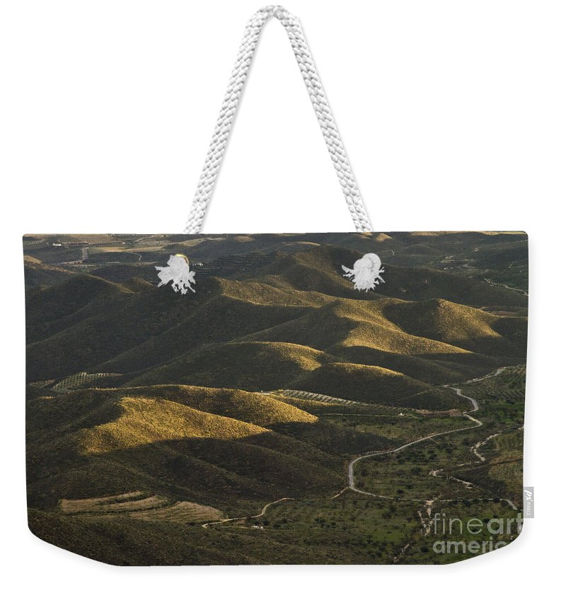 Landscape Weekender Tote Bag featuring the photograph Spanish Landscape In Andalusia by Heiko Koehrer-Wagner