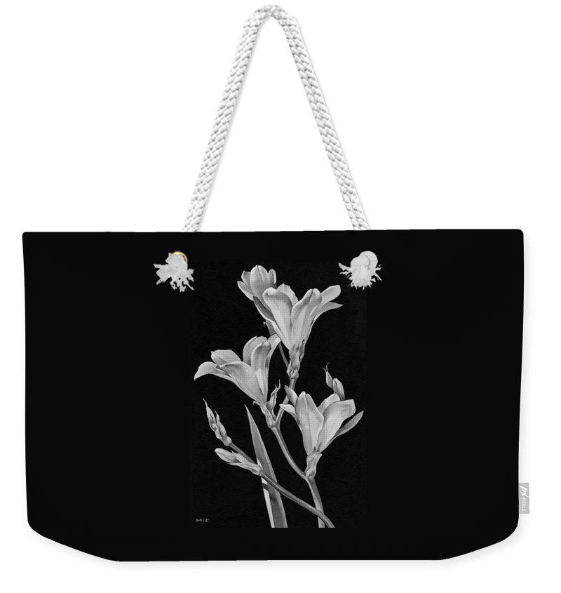 Flowers Weekender Tote Bag featuring the digital art Sparaxis Flowers by Florence Mccurdy