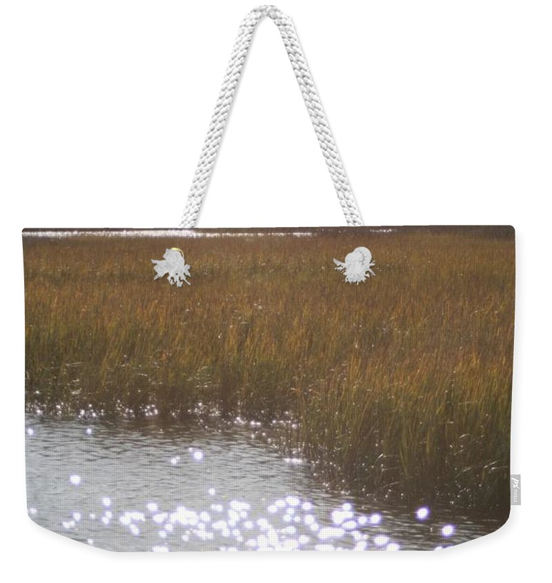 Marsh Weekender Tote Bag featuring the photograph Sparkling Marsh by Nadine Rippelmeyer