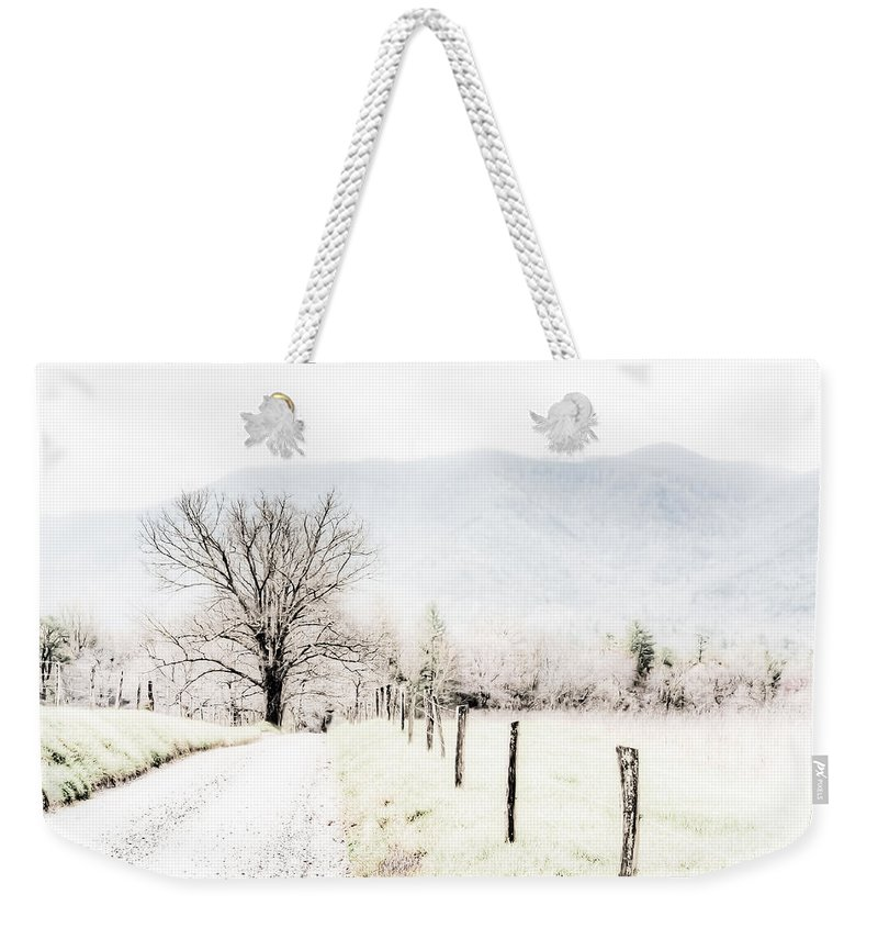 Cades Cove Weekender Tote Bag featuring the painting Sparks Lane by Lynne Jenkins