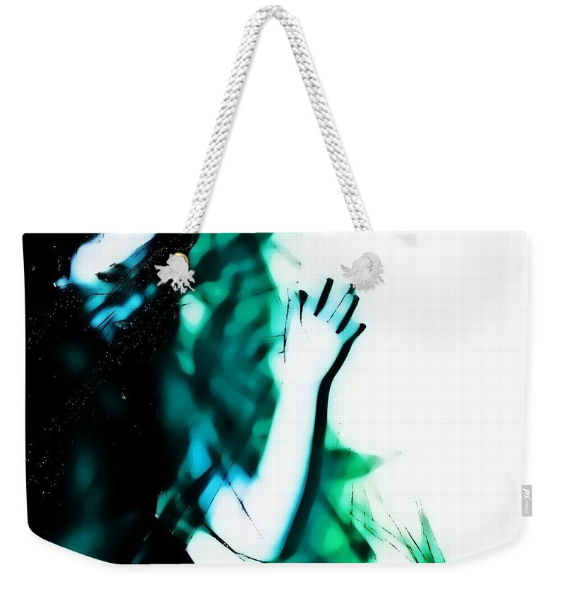 Blue Weekender Tote Bag featuring the photograph Spastic Blue by Jessica Shelton